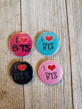 BTS pins set of 4