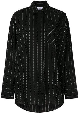 oversized pinstripe shirt