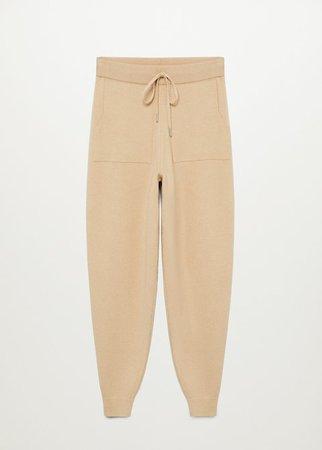 Knit jogger-style trousers - Women | Mango USA
