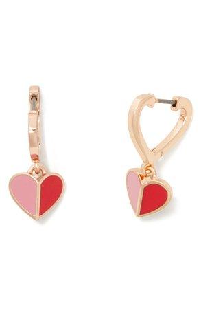 kate spade new york heritage spade huggie hoop earrings | Nordstrom