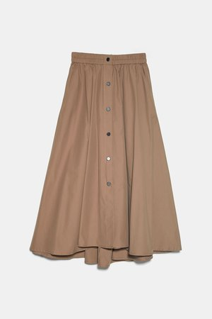 FULL MIDI SKIRT | ZARA United States beige