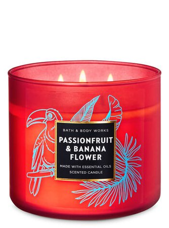 Passionfruit & Banana Flower 3-Wick Candle   Bath & Body Works