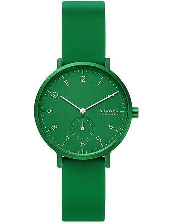 Skagen | Buy Skagen Watches & Accessories Online | David Jones - Aaren Kulor Green Analogue Watch