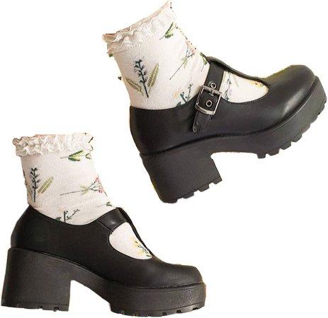 chunky heels with socks