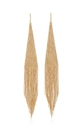 Lisa Eisner 14K Gold Fringe Earrings