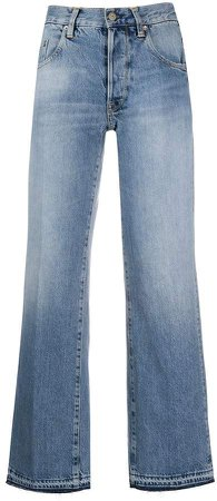 Ava high-rise wide-leg jeans