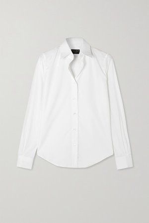 Emma Willis | + NET SUSTAIN cotton-poplin shirt | NET-A-PORTER.COM