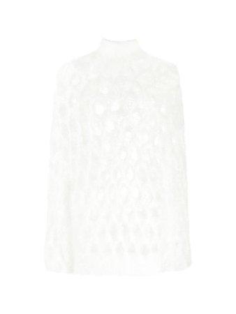 mohair open knit sweater | Balmain
