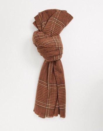 Pieces – Svartrutig scarf | ASOS