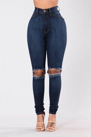 Tough Luck Jeans - Dark Wash