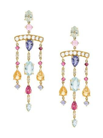 Dubini Theodora Chandelier 18kt Gold Earrings - Farfetch