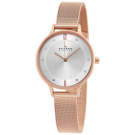 Skagen Anita Silver Dial Rose Gold-tone Ladies Watch SKW2151 | Urban Outfitters