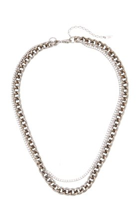 Atomic Crystal-Embellished Sterling Silver Necklace By Maison Irem | Moda Operandi