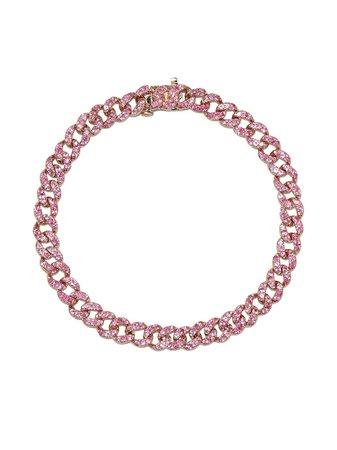 SHAY 18kt rose gold sapphire bracelet - FARFETCH