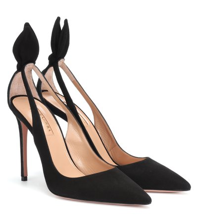 Aquazzura, Deneuve 105 Suede Pumps