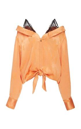 Fontana Satin-Effect Jacquard Blouse by Hellessy | Moda Operandi