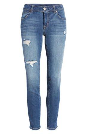 1822 Denim Ripped Ankle Skinny Legging Jeans (Aragon) | Nordstrom