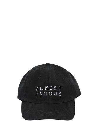 NASASEASONS ALMOST FAMOUS EMBROIDERED BASEBALL HAT.