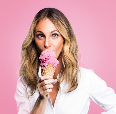 eating pink ice cream - Google Search