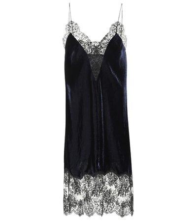Stella McCartney - Velvet and lace dress | Mytheresa