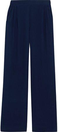 Nuble Pleated Silk Crepe De Chine Wide-leg Pants