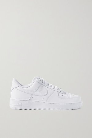 Air Force 1 Leather Sneakers - White
