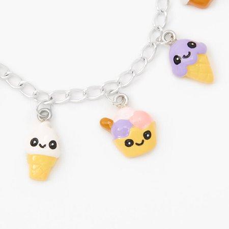 Silver Ice Cream Charm Bracelet | Claire's