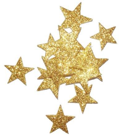 gold stars sparkle glitter