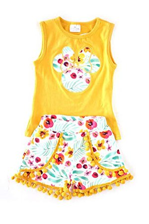 Amazon.com: Boutique Girls Disney World Minnie Mouse Capri Outfit - Spring Summer Short Sleeves: Clothing