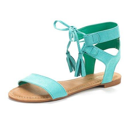 Amazon.com | DREAM PAIRS Women's Ankle Strap Gladiator Flat Sandals | Flats