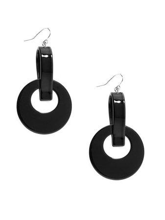 Zenzii Black Resin Drop Earrings – Mary Cheffer