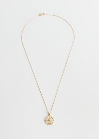 Compass Pendant Necklace - Gold - Necklaces - & Other Stories