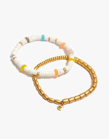 Puka Shell Stretch Bracelet Set