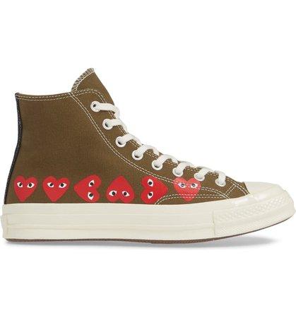 Comme des Garçons PLAY x Converse Chuck Taylor® High Top Sneaker (Women) | Nordstrom