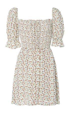 Beldhi Ruched Crepe Mini Dress by Faithfull The Brand | Moda Operandi
