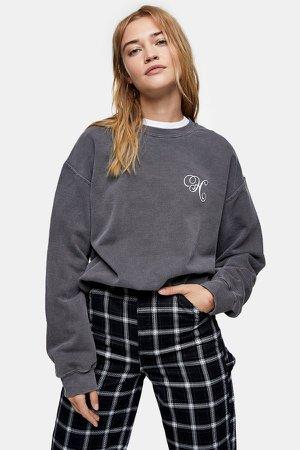 Charcoal Gray Alphabet Letter Sweatshirt