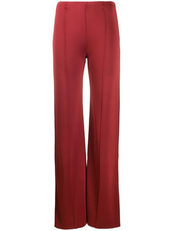 Piped Seams Flared Trousers pants