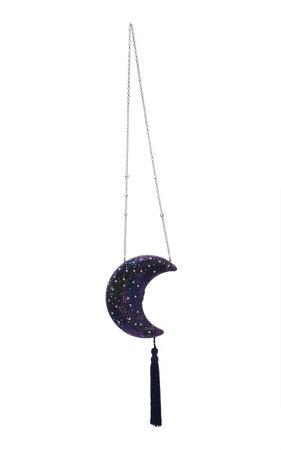 Galaxy Crescent Moon Crystal Clutch by Judith Leiber Couture | Moda Operandi