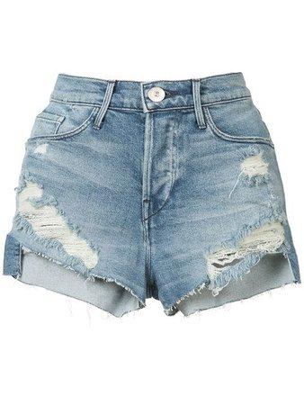 Ripped Denim Shorts. ModeSense