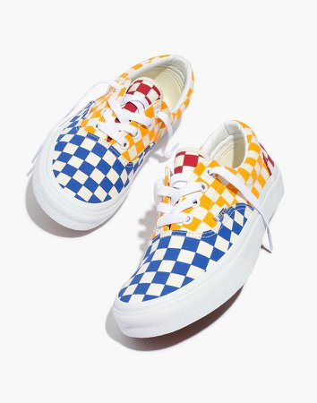 Vans Unisex Era Lace-Up Sneakers in Multi Checkerboard