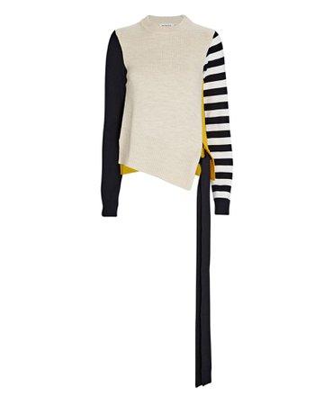 Monse Striped Colorblock Merino Wool Sweater | INTERMIX®