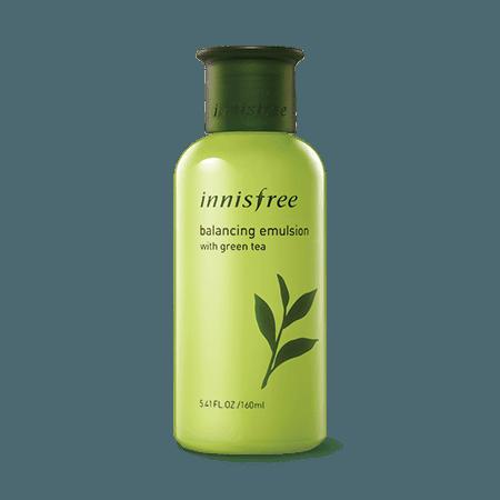 Balancing emulsion with green tea
