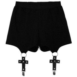 Chicnova Fashion Halloween Solid Color Cross Shorts