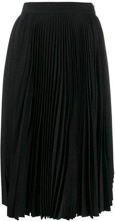 pleated high waisted skirt