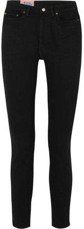 Peg High-rise Skinny Jeans - Black