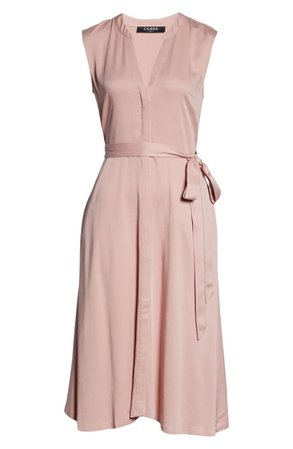 CAARA Florence Belted Midi Dress | Nordstrom