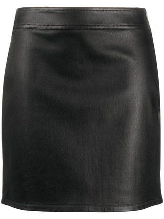 Helmut Lang Biker Mini Skirt - Farfetch