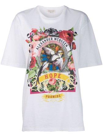 Alexander Mcqueen Floral Print T-Shirt | Farfetch.com