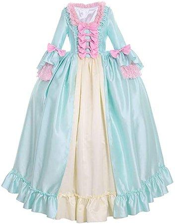 Amazon.com: CosplayDiy Women's Colonial Georgian Rococo Cosplay Costume Gown Dress: Clothing