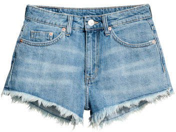 Short Denim Shorts - Blue